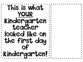 First Day of Kindergarten Fun!
