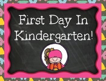 First Day of Kindergarten Signs Superhero Pack