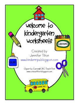 First Day of Kindergarten Worksheets and Activities