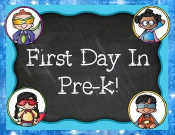 First Day of Pre-k Signs Superhero Pack