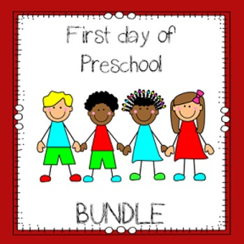 First Day of Preschool Bundle
