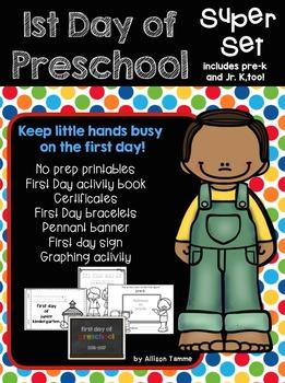 First Day of Preschool Super Set