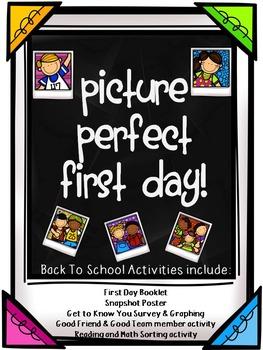 First Day of School Activities & Back to School Activities Bundle