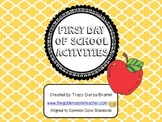 First Day of School Activities Pack