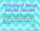 First Day of School Activity Centers