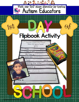 First Day of School Activity Flipbook for Special Educatio