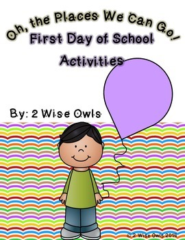 First Day of School Activties-Oh The Places