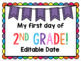 First Day of School { Back to School } Posters / Signs FREEBIE!