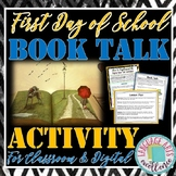 """First Day of School """"Book Talk"""" Activity for Middle and Hi"""