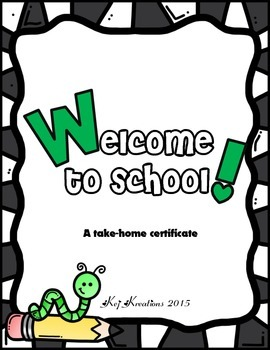 First Day of School Certificate