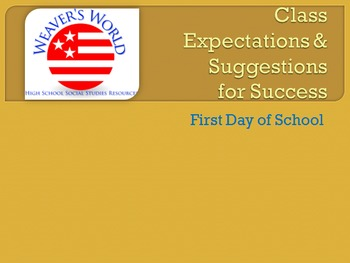 Class Expectations and Suggestions for Success