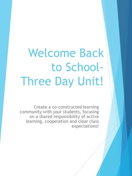 First Day of School Classroom Management Unit