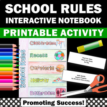 Classroom Rules Interactive Notebook Back to School Class