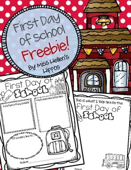 First Day of School {FREEBIE}