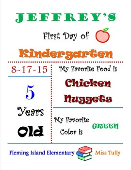 First Day of School Fact Sheet