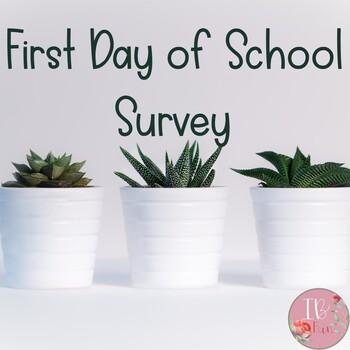First Day of School Info Sheet