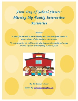 First Day of School Jitters: Missing My Family Interactive