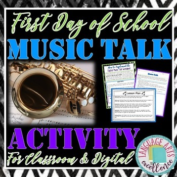 """First Day of School """"Music Talk"""" Activity for Middle and H"""
