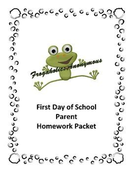 First Day of School Parent Homework