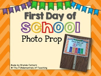 First Day of School Photo Prop