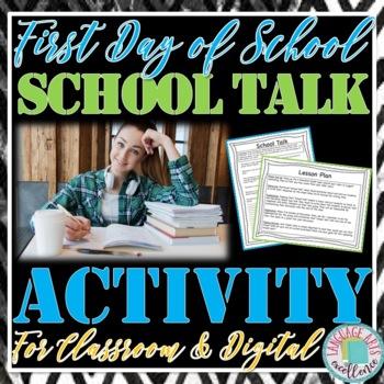 "First Day of School ""School Talk"" Activity"