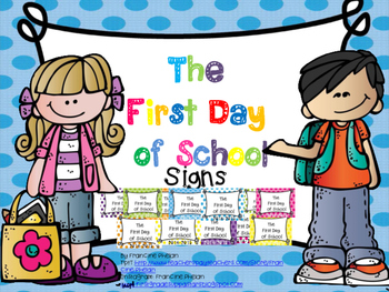 First Day of School (( POLKA- DOT )) Signs