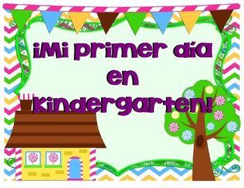 Candyland First Day of School Signs! (English/Spanish)