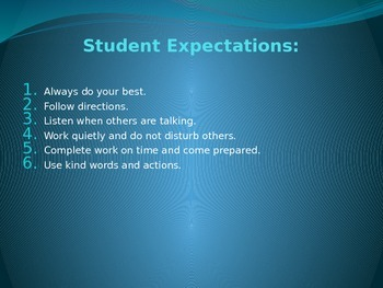 First Day of School  Student Expectations ppt - Rick Morri