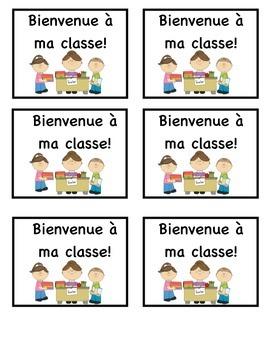 First Day of School Treat in French (Bienvenue à ma classe)