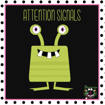 First Day of School/Classroom Management/Attention Signals