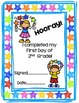 First Day of Second Grade Activity Pack