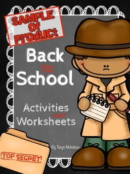 Free Back to School Sample