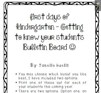 Free First Days Of Kindergarten Writing