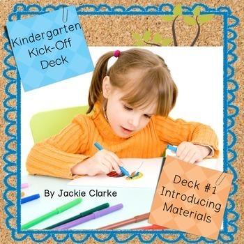 First Days in Kindergarten - Back to School Deck - Introdu
