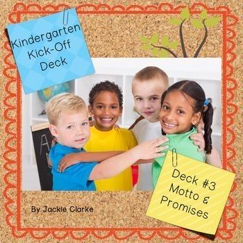 First Days in Kindergarten - Back to School Deck - Motto a
