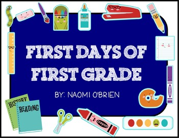 First Days of First Grade Activities and Helpful Handouts
