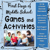 First Days of Middle School - Games and Activities