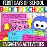 First Days of School Activity Pack, Back to School Activit