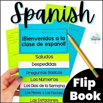 First Days of Spanish Interactive Notebook Flip Book