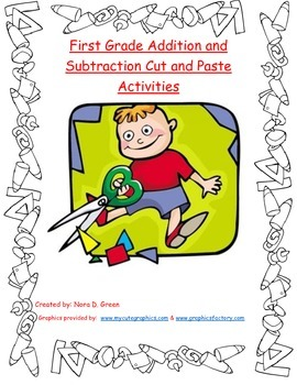 First Grade Addition and Subtraction Cut and Paste Activities