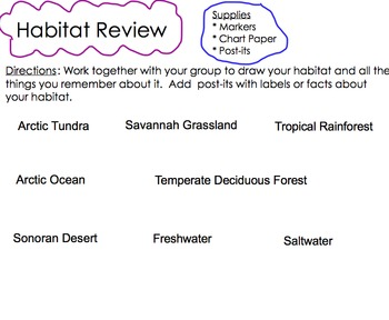First Grade Animals and Habitats Common Core Domain Review