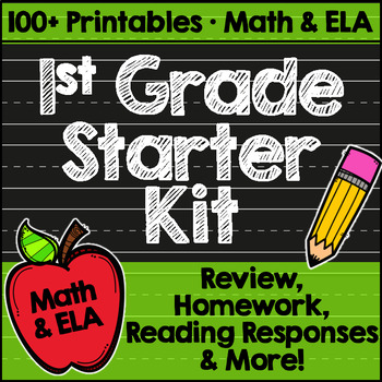 First Grade Back to School Printables: Math & ELA by Miss First Grade