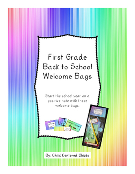 Back to School Welcome Bags First Grade