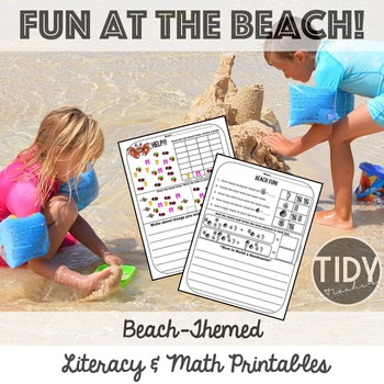 Printable Graphing, Writing, Addition No Prep Activities f
