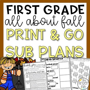 "First Grade C.C. Aligned November ""Fall"" Print & Go Sub Pl"