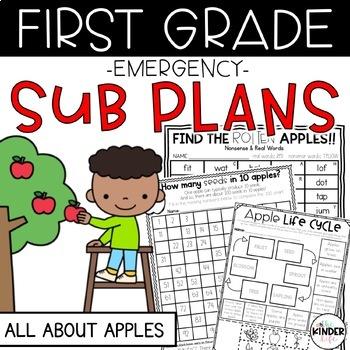 "First Grade C.C. Aligned September ""Apples"" Print & Go Sub"