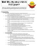 First Grade CCSS Handout for Parents