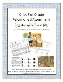 First Grade CKLA All 11 Domain Alternative Assessments in