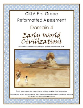First Grade CKLA Domain 4 Early World Civilizations Altern