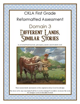 First Grade CKLA Domain 3 Different Lands, Similar Stories
